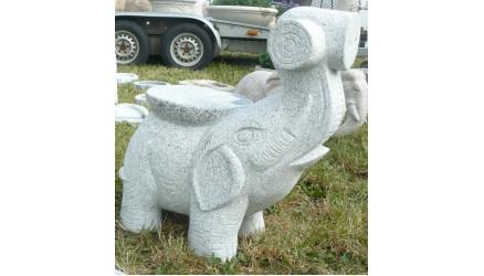 Granit Elefant Stol 060010