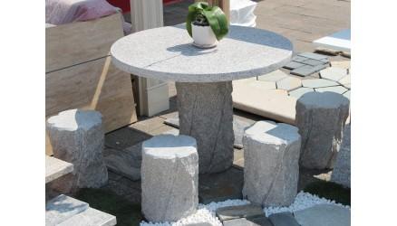 Granit Bord med 4 stole 050040