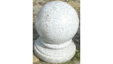 Poleret Granit Kugle Grå Mellem 150020