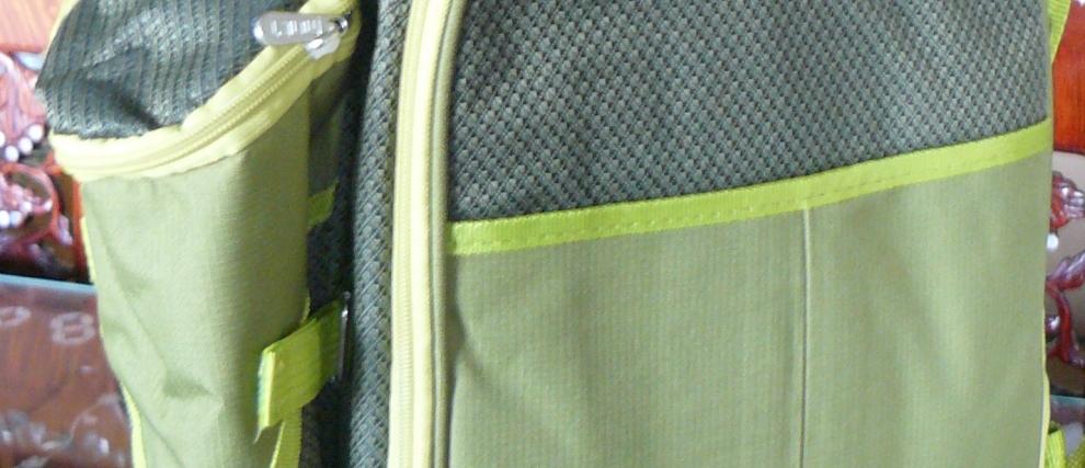 Picnic tasker i flere farver, med indhold.